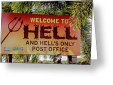 Welcome To Hell Greeting Card