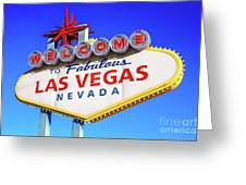 Welcome To Las Vegas Sign Only Boulder Highway Day Greeting Card