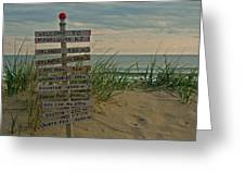 Welcome To Manasquan Greeting Card by Robert Pilkington