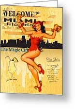 Welcome To Miami Greeting Card