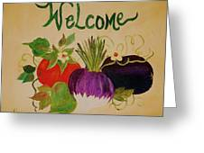 Welcome To My Kitchen Greeting Card by Alanna Hug-McAnnally