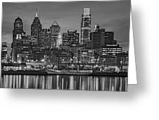 Welcome To Penn's Landing Bw Greeting Card
