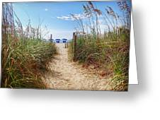 Welcome To The Beach Greeting Card