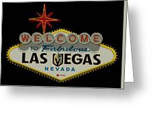 Welcome To Vegas Knights Sign Digital Drawing Greeting Card