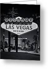 Welcome To Vegas Xi Greeting Card