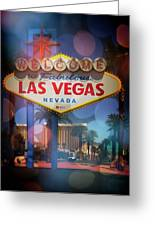 Welcome To Vegas Xii Greeting Card