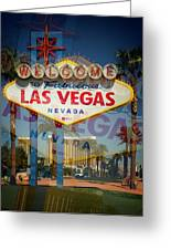 Welcome To Vegas Xiii Greeting Card