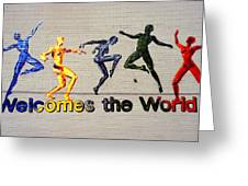 Welcomes The World Mural Greeting Card