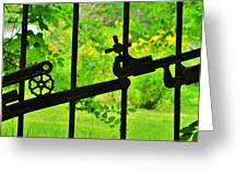 Welded Garden Gate Greeting Card