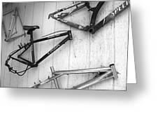 Well Worn Mountain Bike Frames  Greeting Card by Gray  Artus