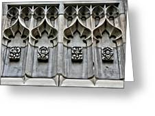 Wellesley College Tower Court Detail Greeting Card