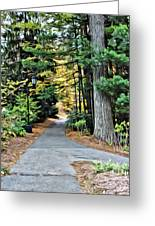 Wellesley College Walkway Greeting Card