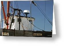Wellfleet Fishing Boat Cape Cod Massachusetts Greeting Card