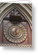 Wells Cathedral Astronomical Clock Greeting Card