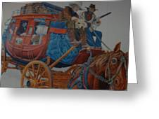 Wells Fargo Stagecoach Greeting Card