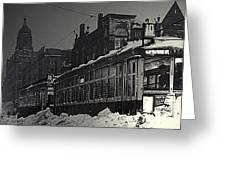Wells Street Trolley Greeting Card