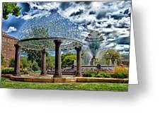 Wellspring Fountain - Council Bluffs Iowa Greeting Card