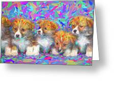 Welsh Corgi Pups Greeting Card