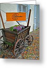 Weltladen Cart Greeting Card