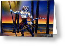 Werecat With Torch Greeting Card