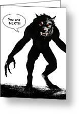 Werewolf Comic Illustration 1 Greeting Card
