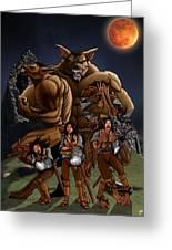 Werewolf Transformation Greeting Card
