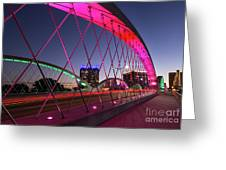 West 7th Street Bridge Greeting Card