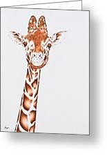 West African Giraffe Greeting Card