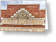 West Bottoms Fire Station Terracotta Dwc Greeting Card