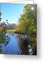 West Branch Iowa River Greeting Card