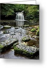 West Burton Falls, Yorkshire, England Greeting Card