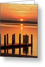 West Dnr Boat Launch July Sunrise Greeting Card