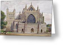 West Front, Exeter Cathedral Greeting Card