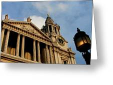 West Front Of St.paul's Cathedral, London Greeting Card
