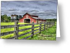 West Georgia Barn Greeting Card