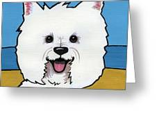 West Highland Terrier Greeting Card by Leanne Wilkes