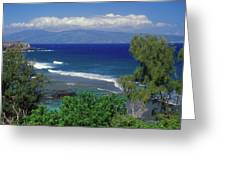 West Maui Ocean View Greeting Card