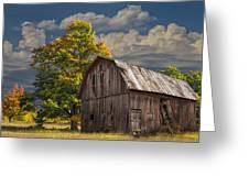 West Michigan Barn In Autumn Greeting Card