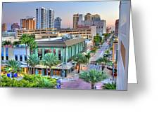 West Palm At Twilight Greeting Card