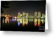 West Palm Beach Downtown Panoramic Greeting Card