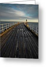 West Pier, Whitby, England Greeting Card