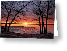 West Pine Road End Sunrise Greeting Card