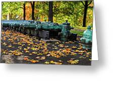 West Point Fall Leaves Greeting Card
