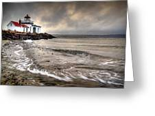 West Point Light House Greeting Card