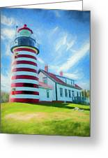 West Quaddy Head Lighthouse Greeting Card