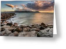 West Shore Sunset Greeting Card