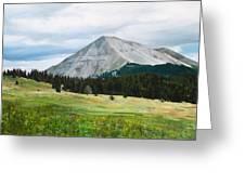 West Spanish Peak In Summer Greeting Card