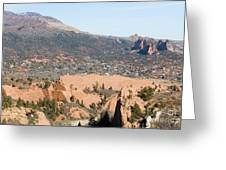 West Springs And Distant Garden Of The Gods Greeting Card