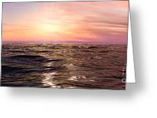 West Sunset Romantic Greeting Card