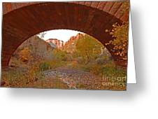 West Temple From Pine Creek Bridge Greeting Card